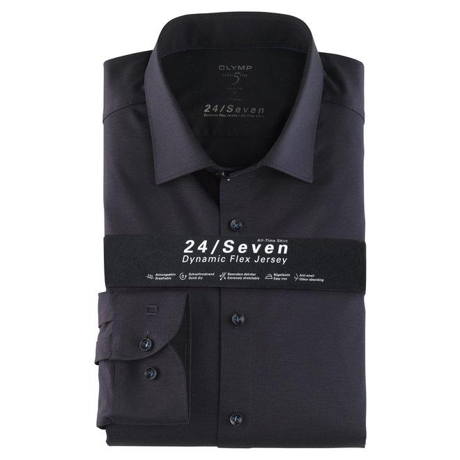 Heren Overhemd 24/Seven Level 5 Body Fit Donkerblauw