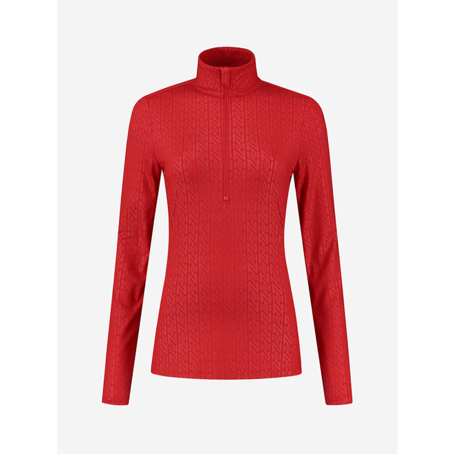 Nikkie Dames Ski Zipper Pully Rood