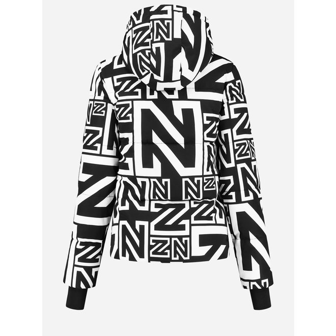 Nikkie Logo Mix Ski Jas Zwart/Wit