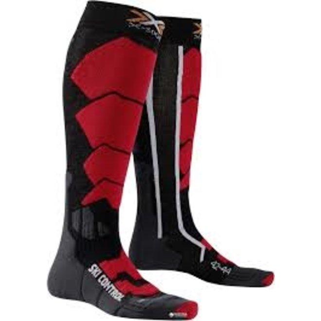 X-Socks Ski Control Sportsokken Zwart/Rood