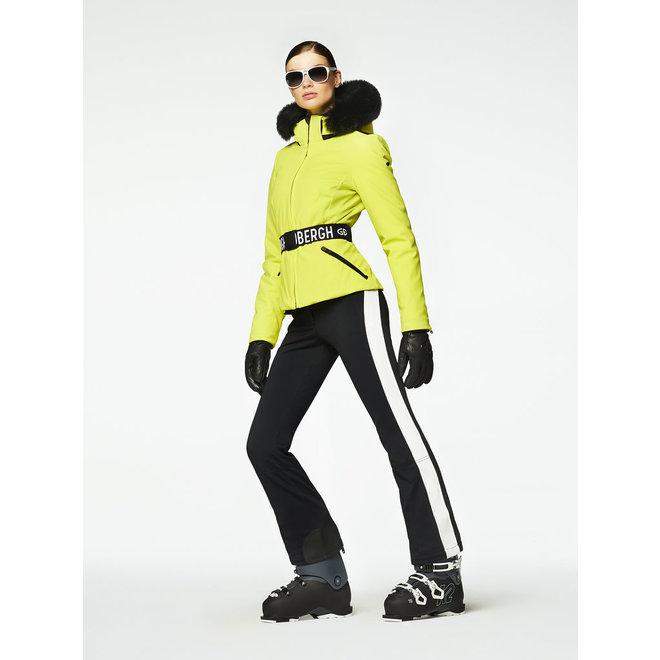 Goldbergh Hida Jacket Real Fox Fur Lime