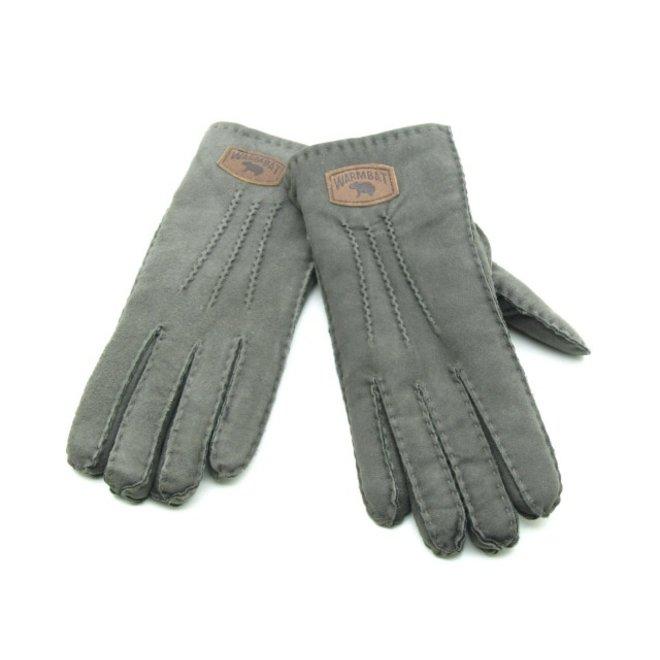 Dames Handschoenen Suede Grijs
