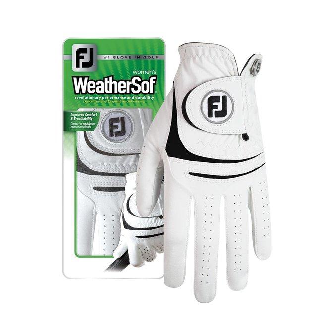 Footjoy Weathersoft Dames Golfhandschoen Wit