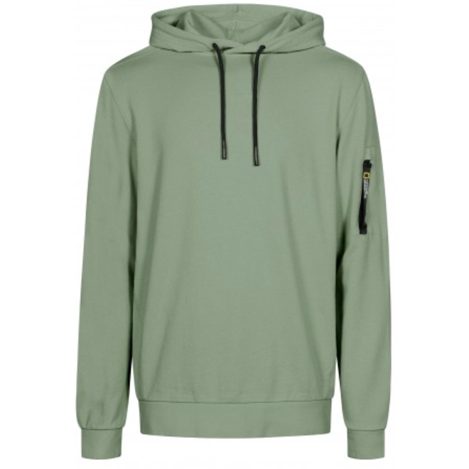 National Geographic Garment Dyed Hoodie Agave Green