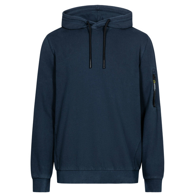 National Geographic Garment Dyed Hoodie Navy