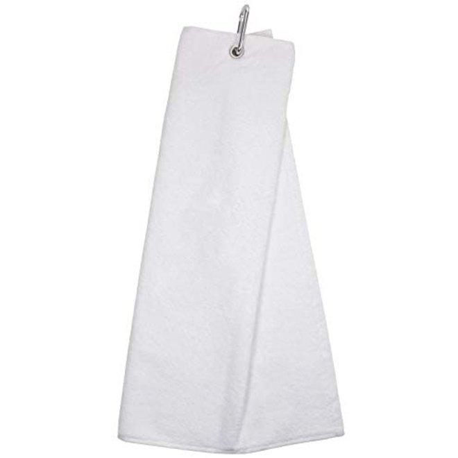 Masters Tri Fold Golfhanddoek Wit