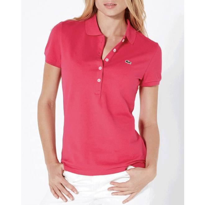 Lacoste Dames Polo Luxe Pink
