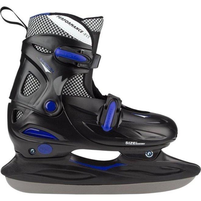 Nijdam Ice Hockey Skates Boys Blauw Zwart