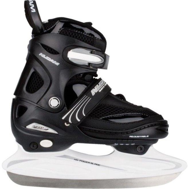 Nijdam Ijshockeyschaatsen Verstelbaar Zwart