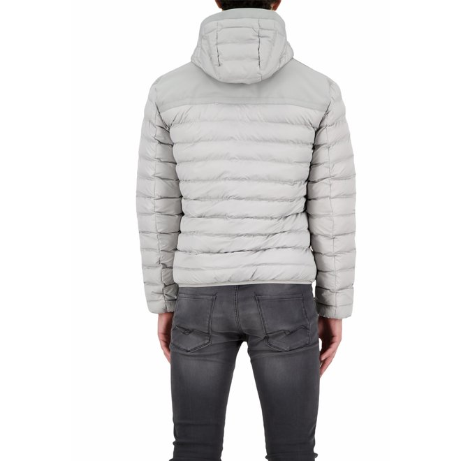 Heren Hooded Padded Jacket Paloma Grey