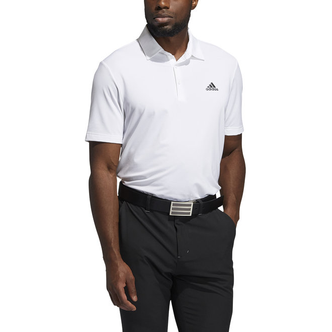 Heren Solid Polo Wit