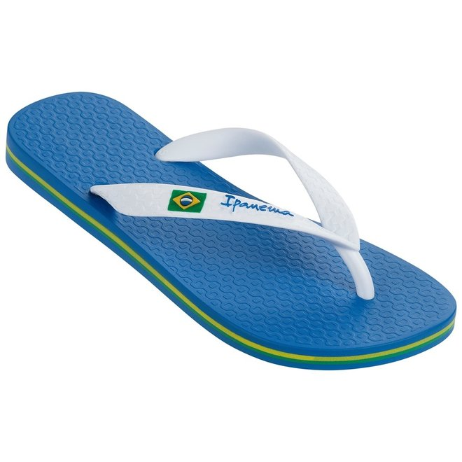 Classic Brasil II Kids Slippers Blue/White