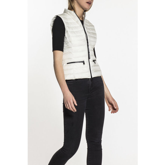 Beaumont Cropped Down Dames Bodywarmer Offwhite