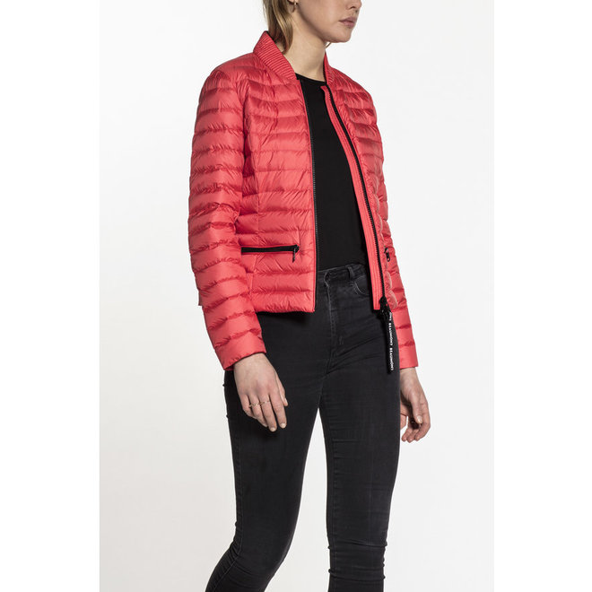 Beaumont Cropped Down Jacket Coral