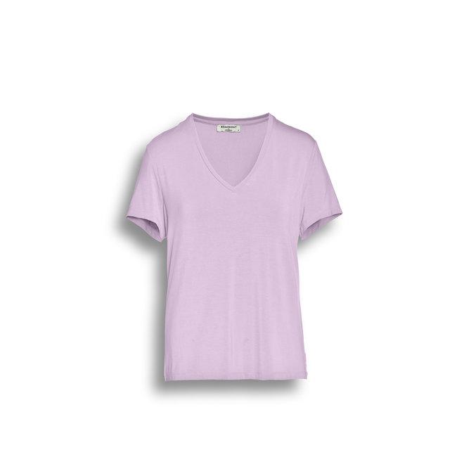 Viscose Jersey Dames T-shirt V-neck
