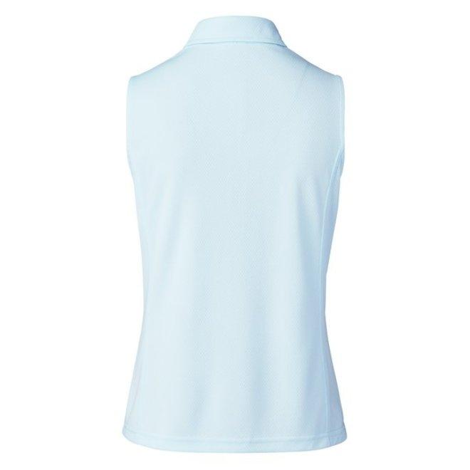 Macy Polo Mouwloos Licht Blauw
