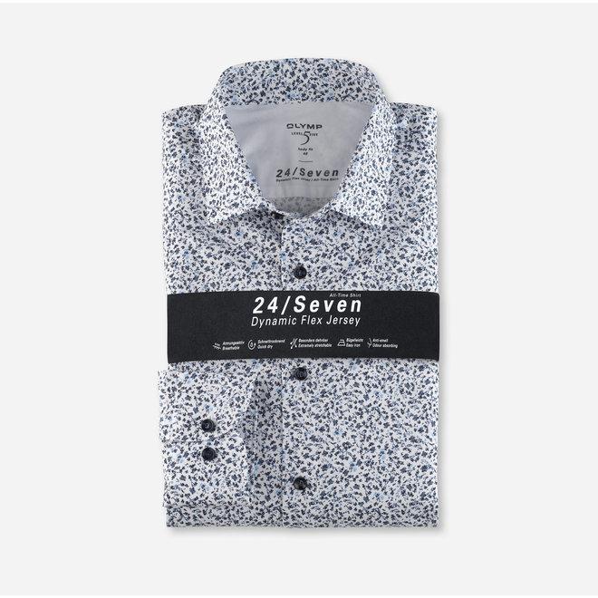 Heren Overhemd 24/Seven Level 5 Body Fit Print
