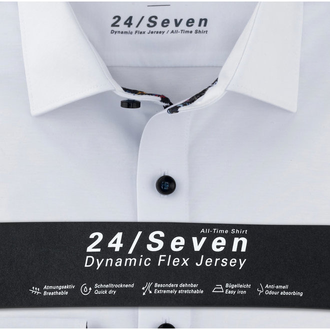 Olymp Heren Overhemd 24/Seven Level 5 Body Fit Wit