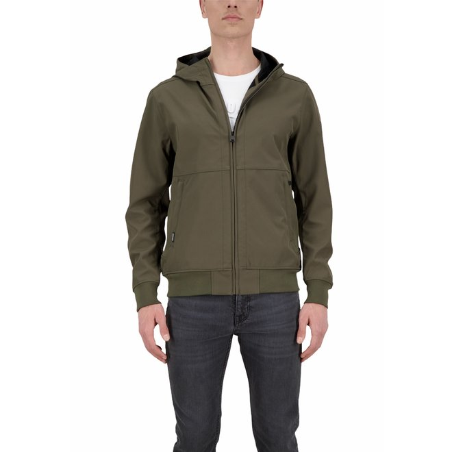 Heren Softshel Jacket Olive Night