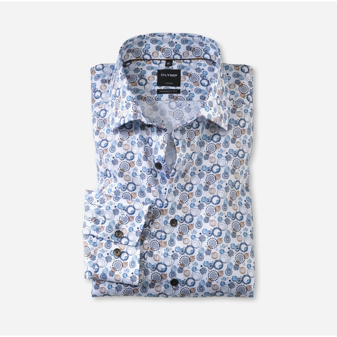 OLYMP Luxor Modern Fit, Zakelijke Overhemd, Global Kent, Bruin
