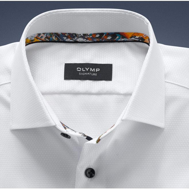 OLYMP SIGNATURE Tailored Fit, Overhemd, SIGNATURE Kent, Wit