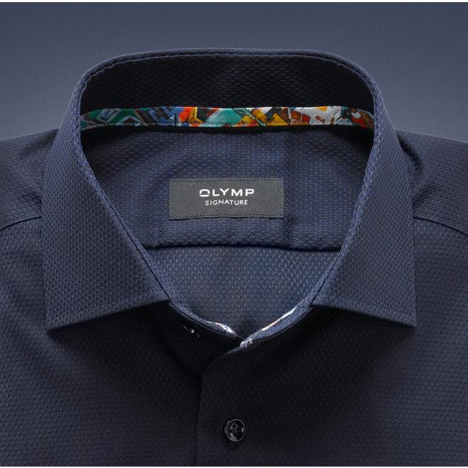 Olymp Signature Tailored Fit Overhemd Kent Nightblue
