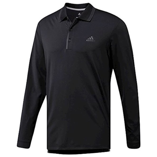 Adidas Longsleeve Polo Zwart