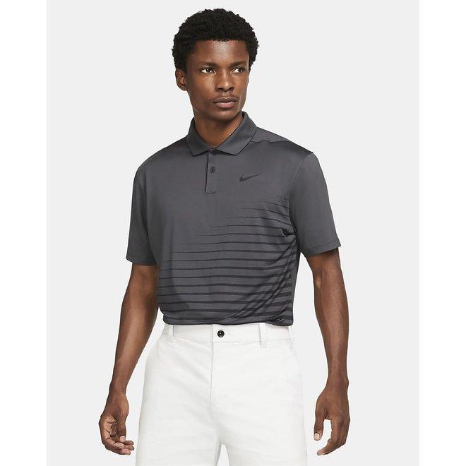 Men Dry Fit Vapor Stripe Polo Dark Grey
