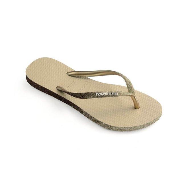 Dames Slim Sparkle Sand Grey