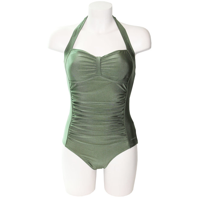 Ladies Bathingsuit Shiny Green
