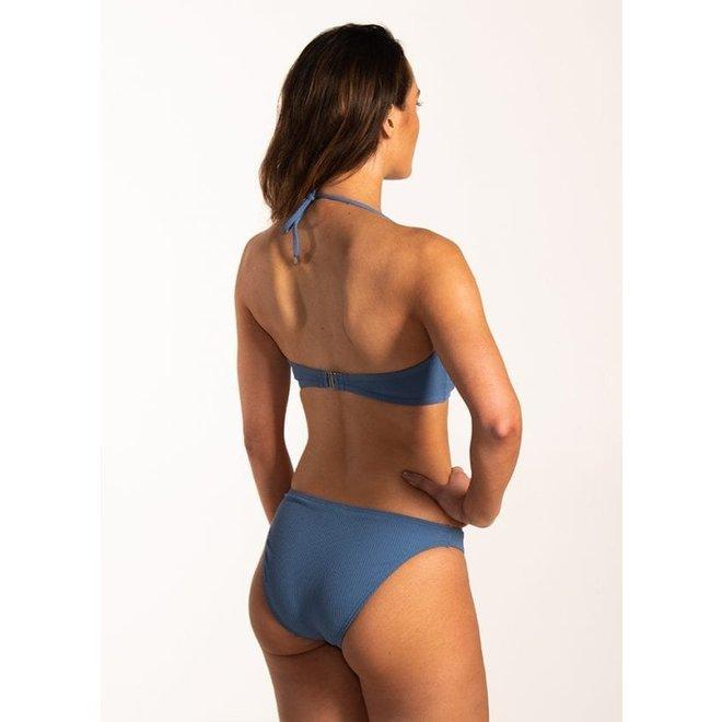 Bandeau Bikinitop Knitted Blue