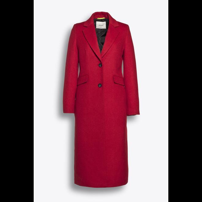 Beaumont Flaush Wool Blazercoat Red