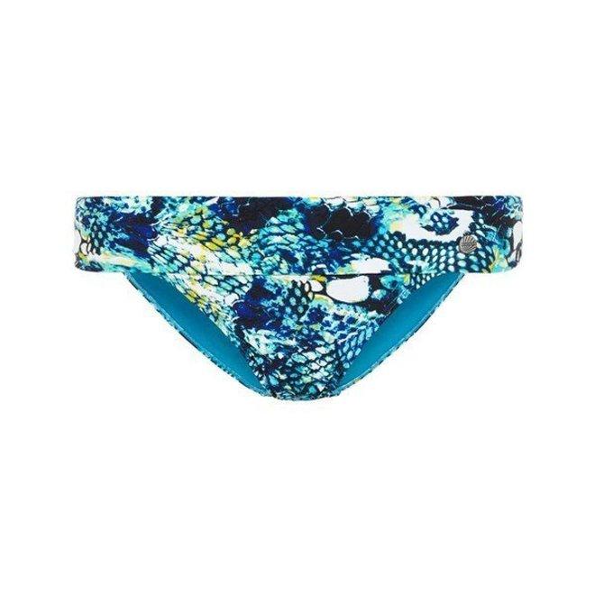 Dames High Slip Blue Snake Print