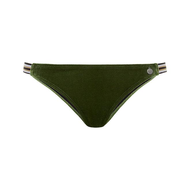 Dames Slip Streep Velvet Green