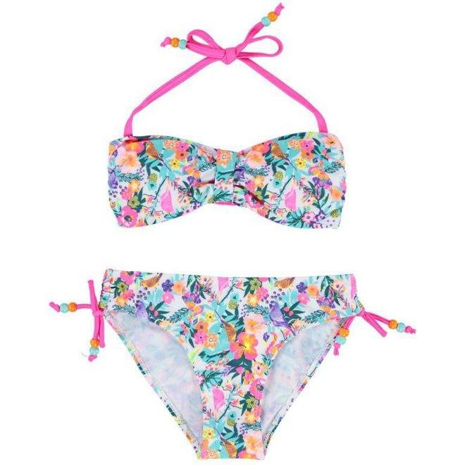 Boobs & Bloomers Meisjes Bandeau Bikini Structure Flower Print