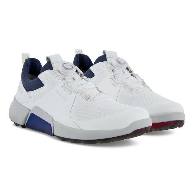 Ecco Heren Golf Biom H4 BOA White Blue