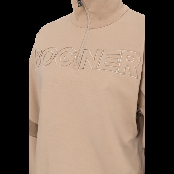 Bogner Dames Tabby Fleece Sweater 1/2 Zip Beige