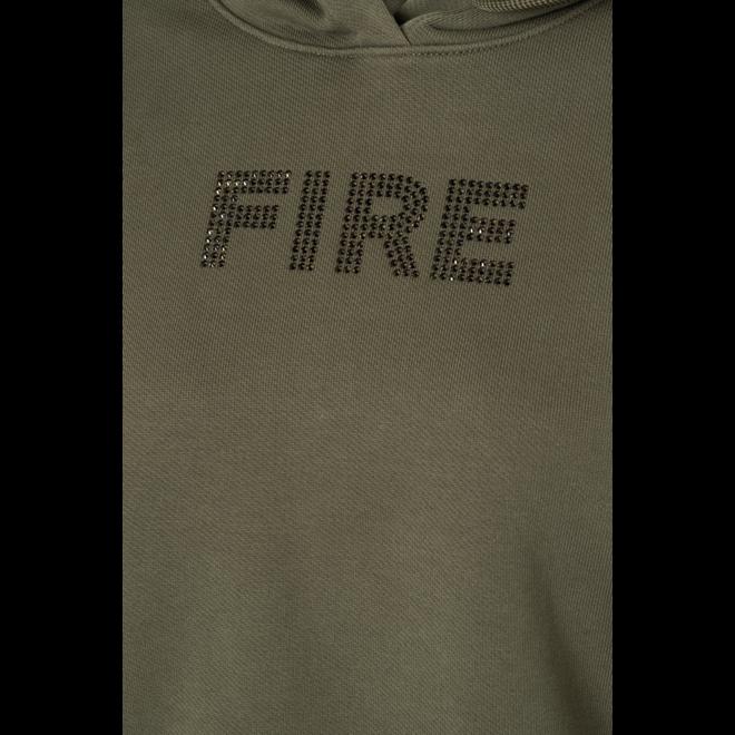 Fire + Ice Dames Cosa Sweatshirt Hoodie Army Green