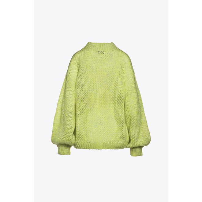 Beaumont Handknitted Pullover Lime