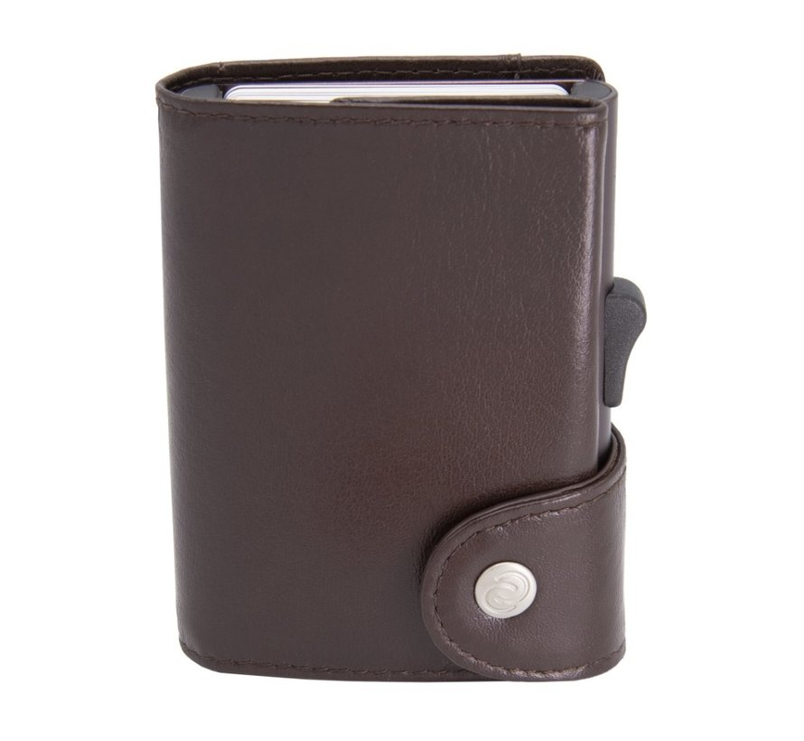 C-secure XL Wallet mogano