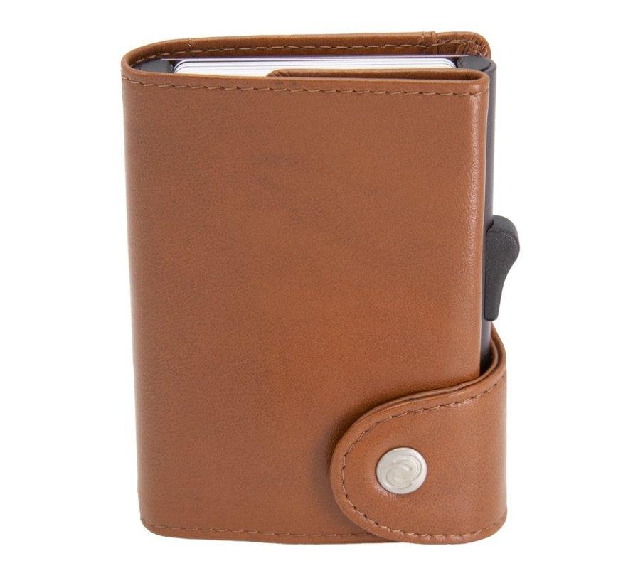 C-secure XL Coin Wallet chestnut