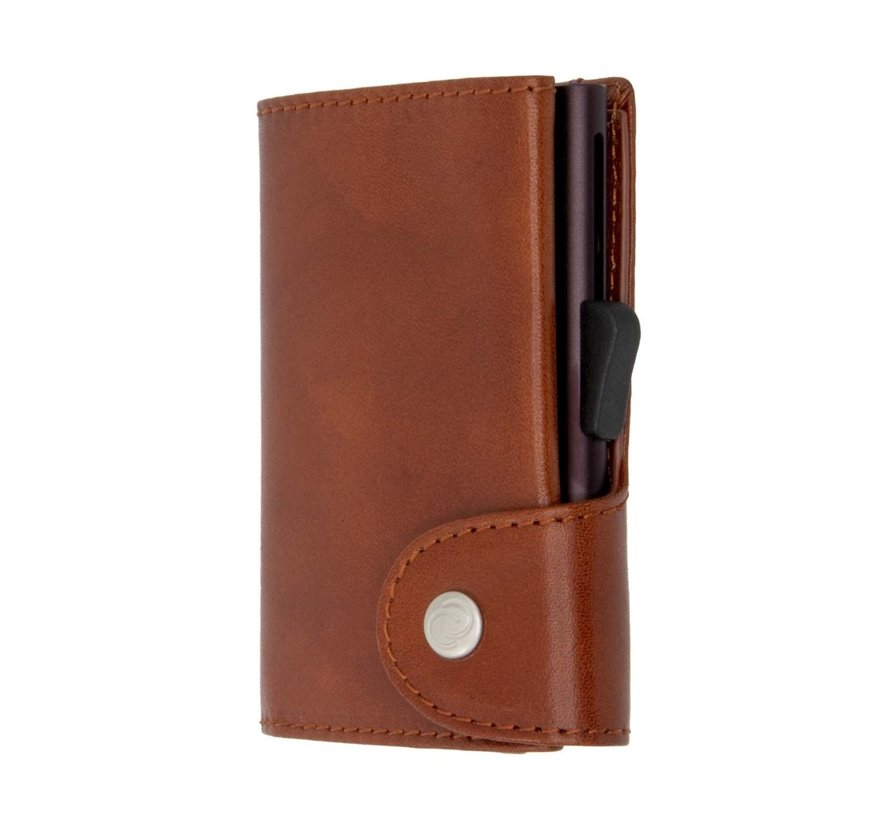 C-secure Wallet Vegetable Tanned macchiato