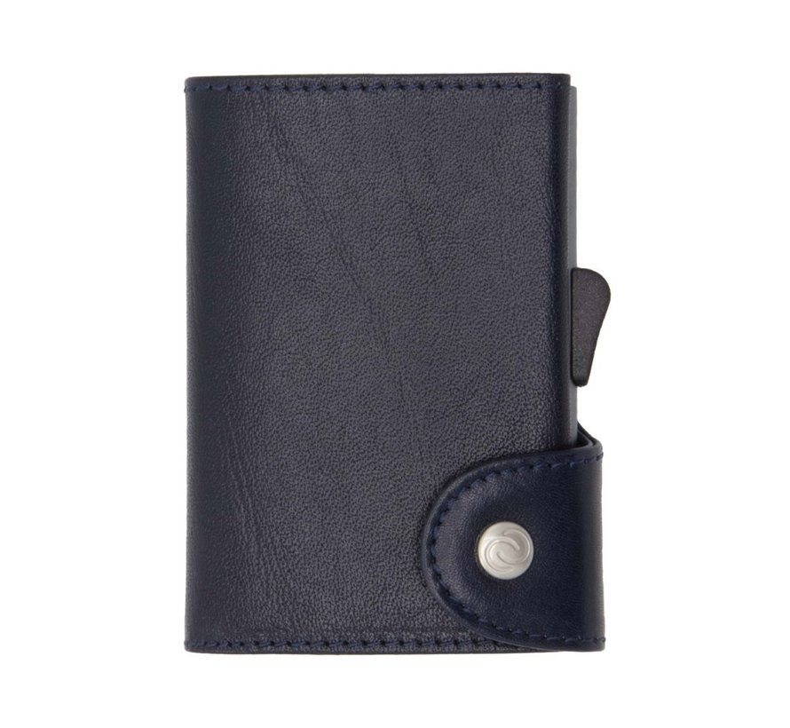 C-secure Coin Wallet Vegetable Tanned donkerblauw-montana