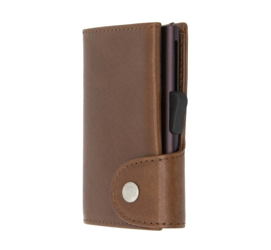 C-secure Coin Wallet Vegetable Tanned gun