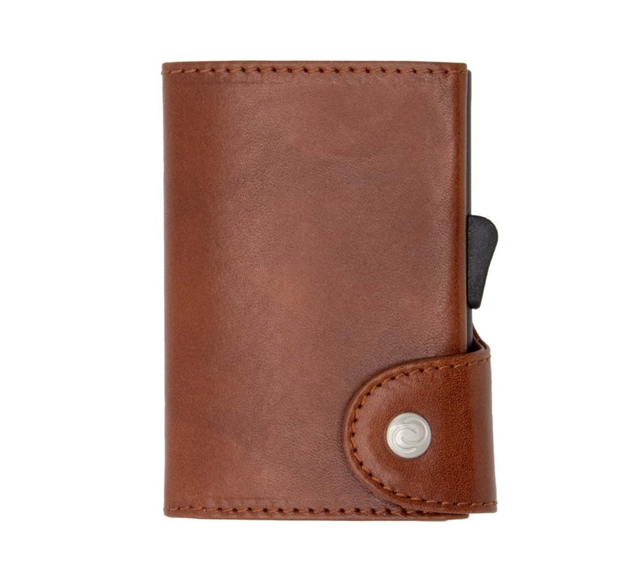 C-secure Coin Wallet Vegetable Tanned macchiato