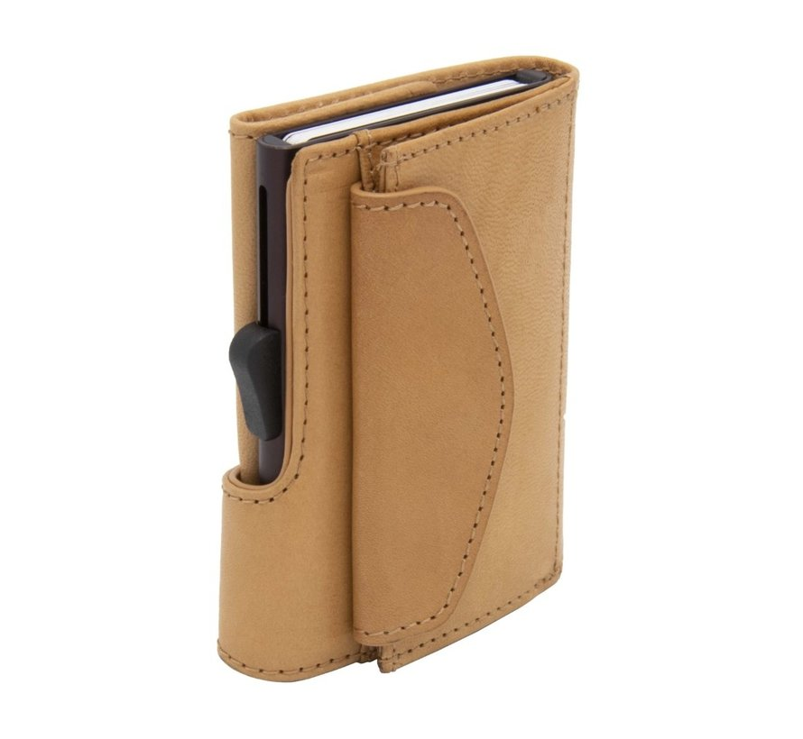 C-secure Coin Wallet Vegetable Tanned saddle