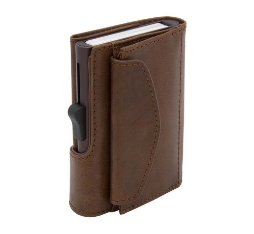 C-secure C-secure XL Coin Wallet Vegetable Tanned gun