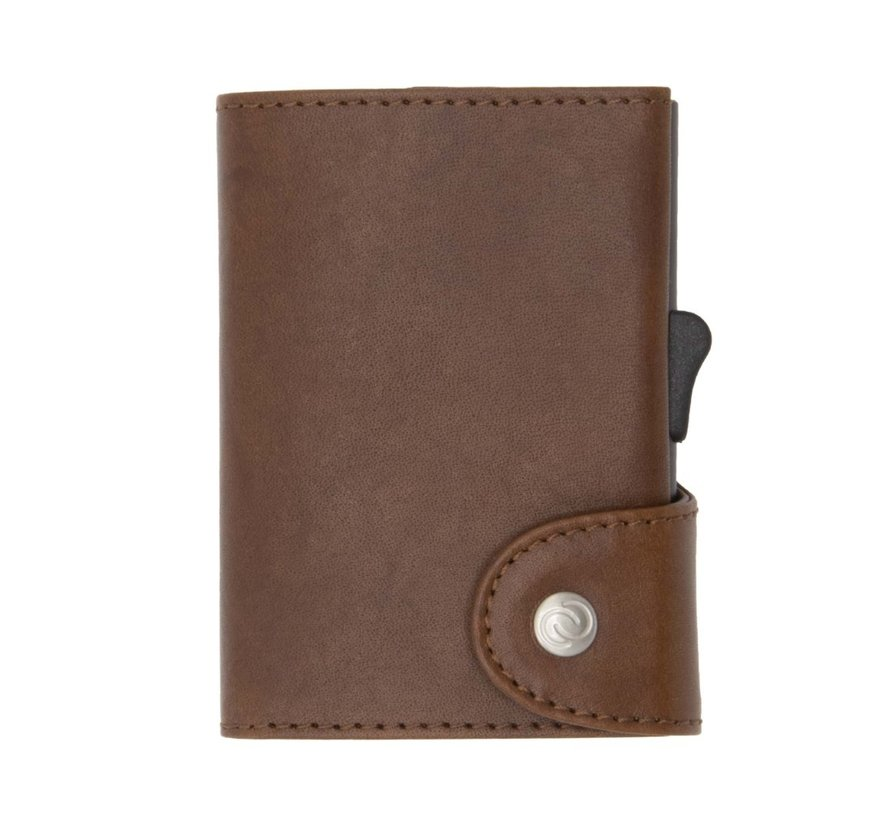 C-secure XL Coin Wallet Vegetable Tanned gun