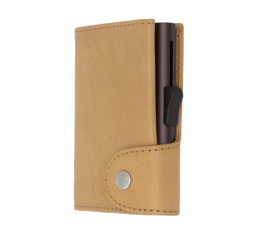 C-secure XL Coin Wallet Vegetable Tanned saddle