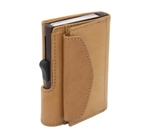 C-secure C-secure XL Coin Wallet Vegetable Tanned saddle